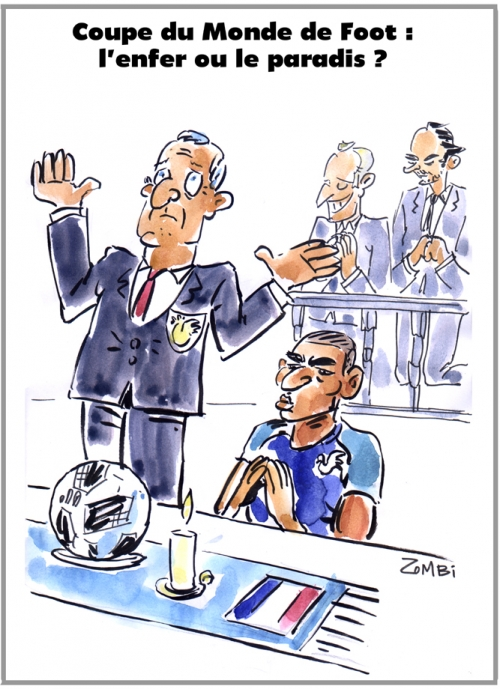 webzine,bd,zébra,gratuit,fanzine,bande-dessinée,caricature,coupe,monde,foot,2018,didier deschamps,kilyan m'bapé,religion,dessin,presse,satirique,editorial cartoon,zombi
