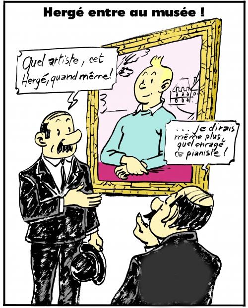 webzine,bd,gratuit,fanzine,zébra,bande-dessinée,parodie,tintin,dupont et dupond,musée,joconde,dessin,presse,zombi
