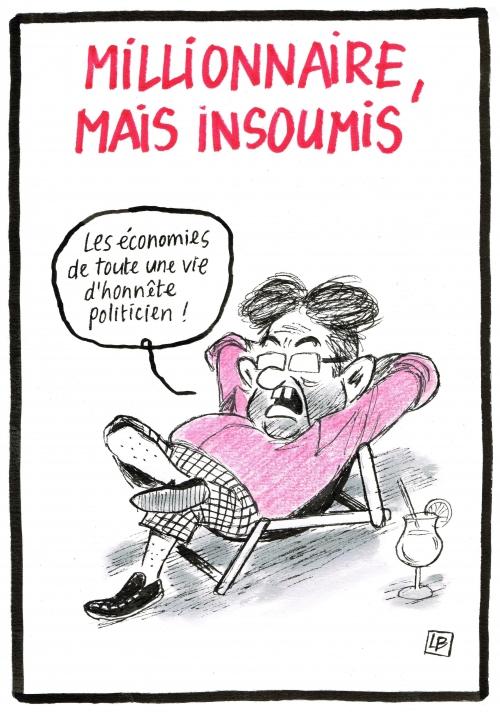 webzine,bd,zébra,fanzine,gratuit,bande-dessinée,caricature,jean-luc mélenchon,millionnaire,2017,dessin,presse,satirique,editorial cartoon,énigmatique lb