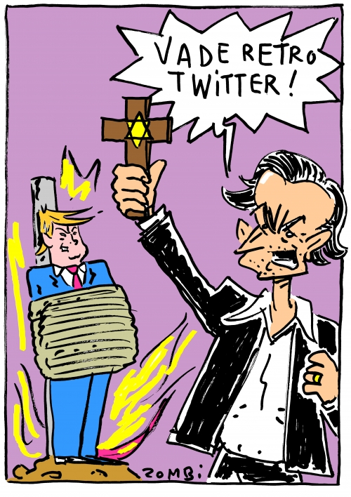 webzine,bd,zébra,gratuit,fanzine,bande-dessinée,caricature,bhl,twitter,bernard-henri lévy,donald trump,vade retro satanas,dessin,presse,satirique,editorial cartoon,zombi