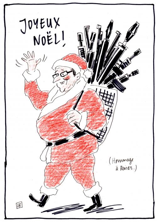 webzine,zébra,fanzine,bd,gratuit,bande-dessinée,caricature,françois hollande,père noël,2015,dessin,presse,satirique,editorial cartoon,lb