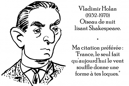 webzine,zébra,gratuit,bd,fanzine,bande-dessinée,antistyle,littéraire,critique,littérature,portrait,écrivain,caricature,citation,vladimir holan,france,shakespearien