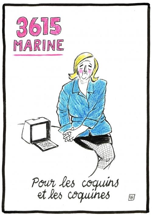 webzine,bd,zébra,gratuit,fanzine,bande-dessinée,caricature,marine,lepen,présidentielle,2017,36-15,satirique,editorial cartoon,satirique,dessin,presse,énigmatique lb