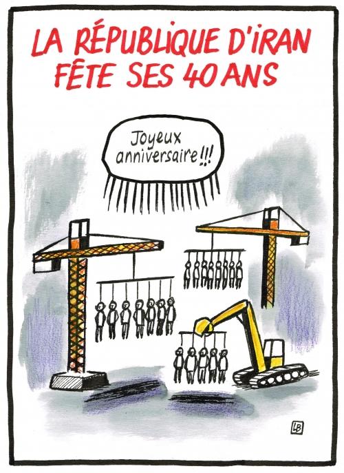 webzine,gratuit,zébra,fanzine,bande-dessinée,caricature,iran,république,anniversaire,40 ans,dessin,presse,satirique,énigmatique lb,editorial cartoon