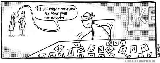 webzine,gratuit,bd,zébra,bande-dessinée,fanzine,wschinski,allemand,gag,humbug,comix,strip,meuble,ikéa