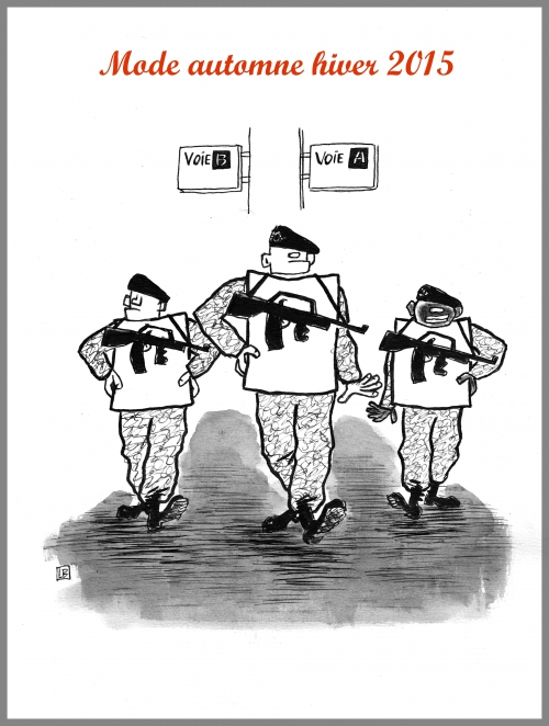 webzine,bd,gratuit,zébra,fanzine,bande-dessinée,caricature,mode,soldat,armée,vigipirate,dessin,presse,satirique,editorial cartoon,lb