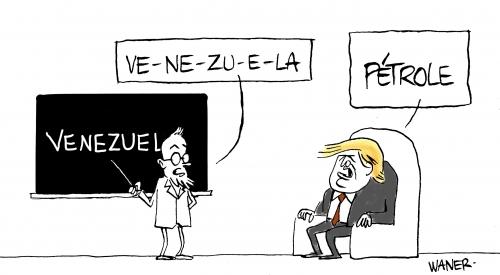 webzine,bd,zébra,gratuit,fanzine,bande-dessinée,caricature,donald trump,vénézuela,dessin,satirique,waner,editorial cartoon,siné-mensuel