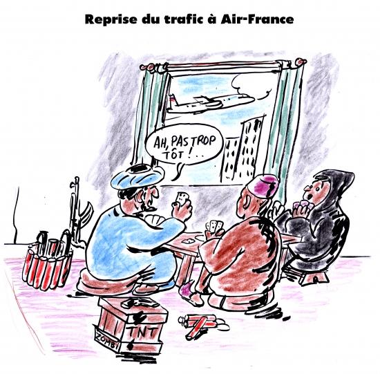 webzine,gratuit,zébra,bd,fanzine,bande-dessinée,satirique,caricature,air-france,terrorisme,trafic,dessin,presse,editorial cartoon,zombi