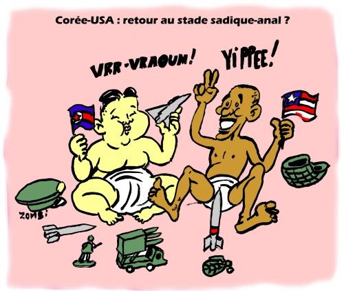 webzine,gratuit,bd,zébra,fanzine,bande-dessinée,caricature,satirique,barack obama,kim jung un,corée,usa,dessin,presse,editorial cartoon,zombi