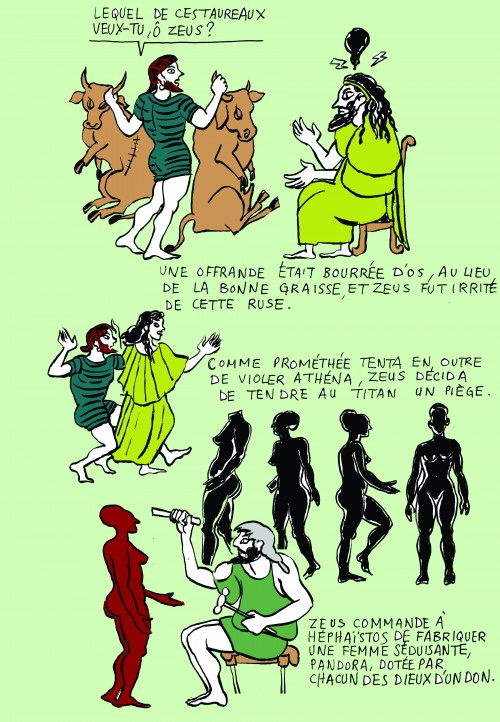 fanzine,zébra,illustration,blog,hors-série,bd,mythologie,colorisation,prométhée,prometheus