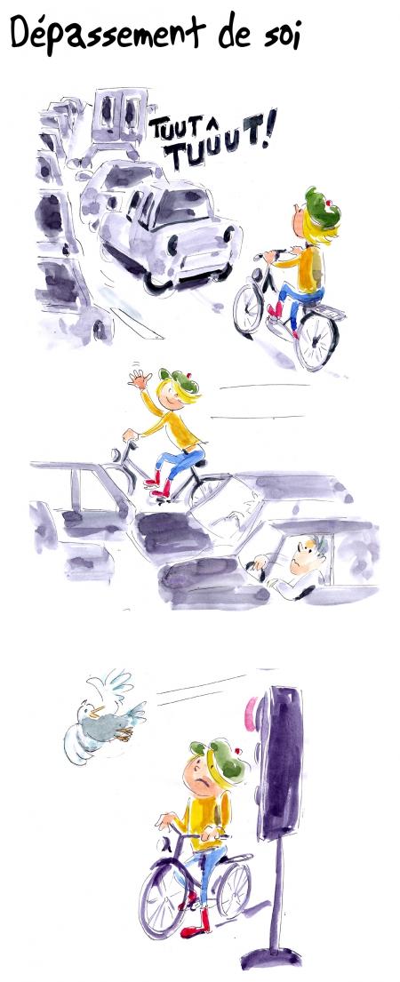 webzine,bd,gratuit,zébra,bande-dessinée,fanzine,strip,lola,aurélie dekeyser,vélo,dépassement,circulation,humour