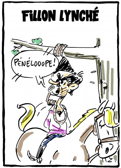webzine,bd,zébra,gratuit,fanzine,bande-dessinée,caricature,françois fillon,pénélope,lynchage,procès,dessin,presse,satirique,editorial cartoon,zombi