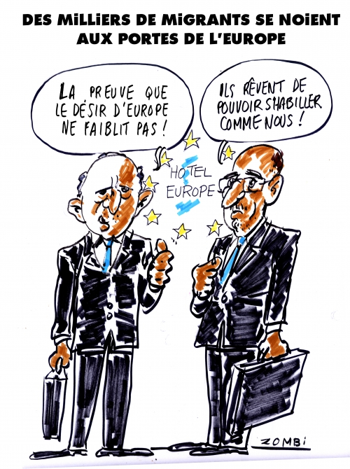 webzine,hebdo,bd,gratuit,zébra,fanzine,bande-dessinée,caricature,europe,laurent fabius,harlem désir,migrants,dessin,presse,satirique,editorial cartoon,zombi