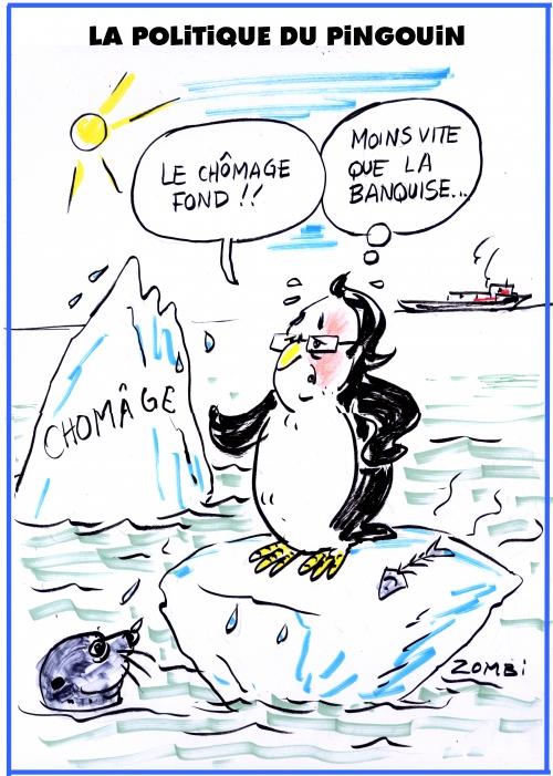 webzine,bd,zébra,fanzine,bande-dessinée,gratuit,caricature,françois hollande,chomage,banquise,pingouin,réchauffement,climat,dessin,presse,editorial cartoon,zombi
