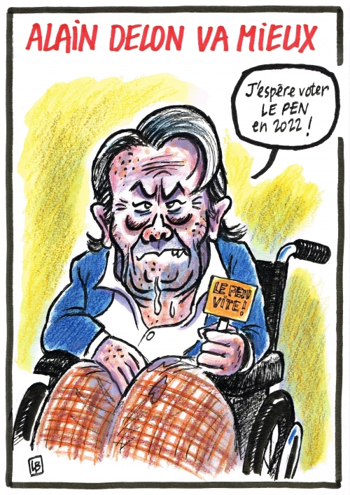 webzine,bd,zébra,fanzine,bande-dessinée,caricature,alain delon,le pen,avc,2019,dessin,presse,satirique,editorial cartoon,dessin,presse,satirique,marianne,énigmatique lb