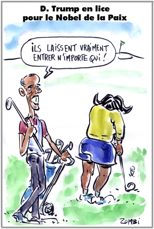 webzine,bd,zébra,gratuit,fanzine,bande-dessinée,caricature,barack obama,michelle,trump,nobel,paix,dessin,presse,satirique,editorial cartoon,zombi