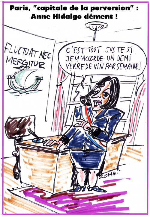 webzine,bd,gratuit,zébra,fanzine,bande-dessinée,caricature,anne hidalgo,paris,capitale,perversion,abomination,califat,revendication,dessin,presse,editorial cartoon,satirique,zombi