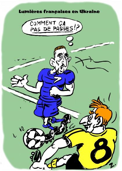 fanzine,zébra,rayon noir,bd,humour,illustration,gag,bande-dessinée,satirique,caricature,franck ribéry,bleus,euro 2012,football