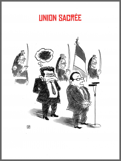 webzine,bd,zébra,fanzine,gratuit,bande-dessinée,caricature,françois hollande,nicolas sarkozy,union sacrée,unité nationale,dessin,presse,satirique,editorial cartoon