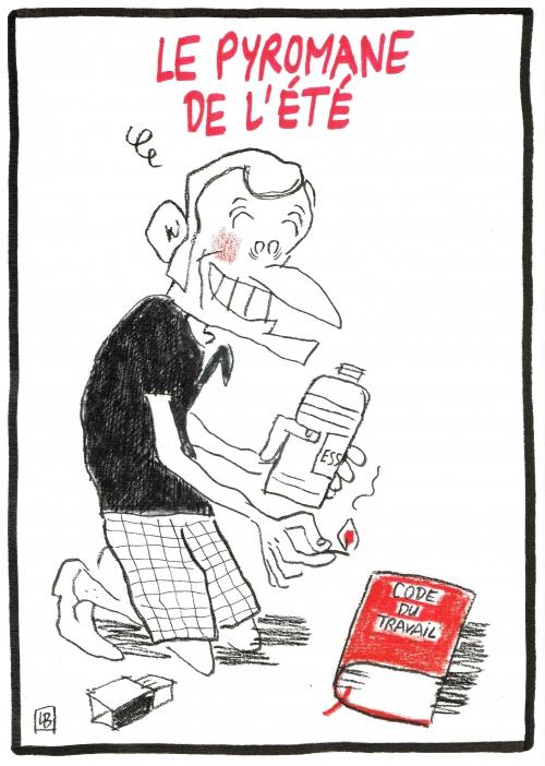 webzine,bd,zébra,gratuit,bande-dessinée,fanzine,dessin,presse,emmanuel macron,code,travail,pyromane,caricature,satirique,lb,siné-mensuel