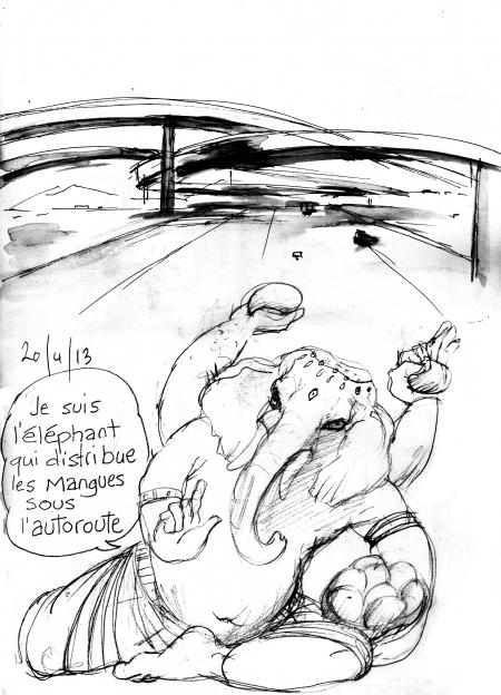 webzine,bd,gratuit,zébra,fanzine,bande-dessinée,illustration,louise asherson,carnet,dessin,éléphant,mangue,autoroute,ganesh