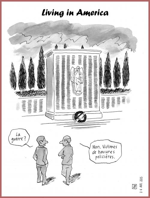 webzine,zébra,bd,gratuit,fanzine,bande-dessinée,caricature,états-unis,monument aux morts,bavure,policière,dessin,presse,satirique,editorial cartoon