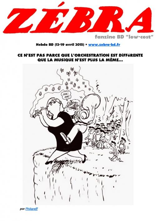 webzine,bd,gratuit,fanzine,zébra,bande-dessinée,revue de presse,actualité,hebdomadaire,couverture,zombi,philgreff,le pen,issuu.com,pdf,lien hypertexte