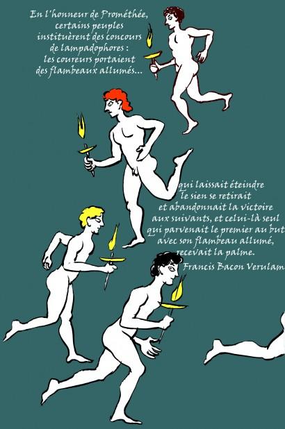 fanzine,zébra,bd,illustration,françois le roux,lampadophores,francis bacon verulam,prométhée,prometheus