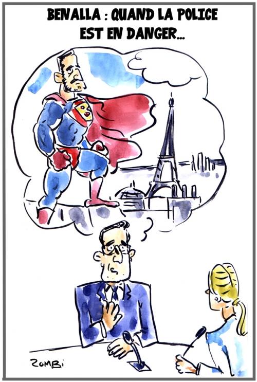 webzine,zébra,bd,fanzine,gratuit,bande-dessinée,caricature,alexandre benalla,police,superman,dessin,presse,satirique,editorial cartoon,zombi