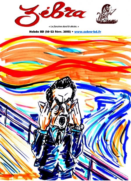 webzine,bd,gratuit,fanzine,zébra,bande-dessinée,revue de presse,actualité,hebdomadaire,couverture,burlingue,edouar munch,cri,parodie,sarkozy,issuu.com,pdf,lien hypertexte