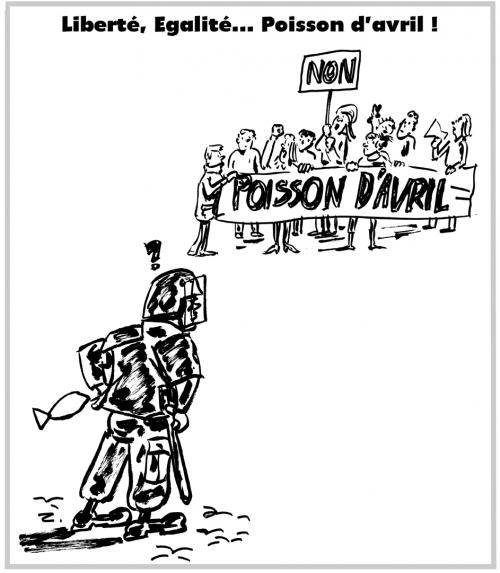 webzine,bd,zébra,gratuit,fanzine,bande-dessinée,caricature,1er avril,crs,manifestation,étudiants,poisson d'avril,banderole,travail,dessin,presse,satirique,editorial cartoon,zombi