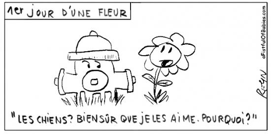 webzine,bd,zébra,fanzine,gratuit,bande-dessinée,comic-strip,reyn,afistfulofbabies.com,fleur,pompe incendie,chien,humour,gag