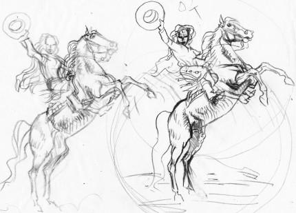 fanzine,zébra,bd,illustration,planches,michel tamer,john wayne,western