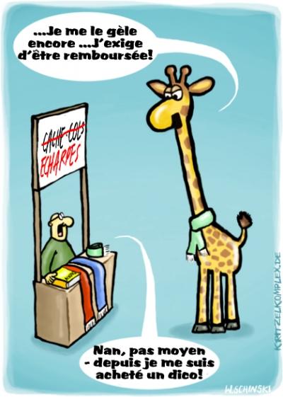 fanzine,webzine,gratuit,bd,zébra,bande-dessinée,comics,wschinski,humbug,humour,allemand,gag,girafe,écharpe