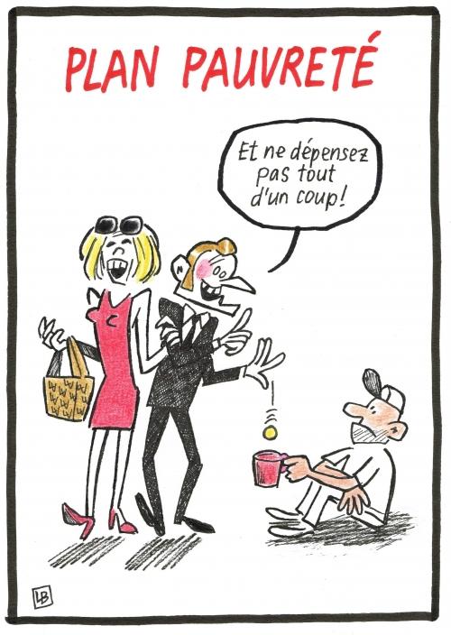webzine,bd,zébra,gratuit,fanzine,bande-dessinée,caricature,emmanuel macron,pauvreté,dessin,presse,satirique,editorial cartoon,énigmatique lb,siné-mensuel