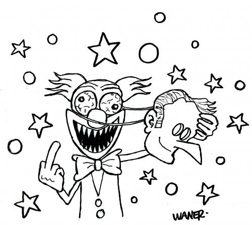 webzine,bd,zébra,gratuit,fanzine,bande-dessinée,caricature,emmanuel macron,coloriage,clown,dessin,presse,satirique,waner