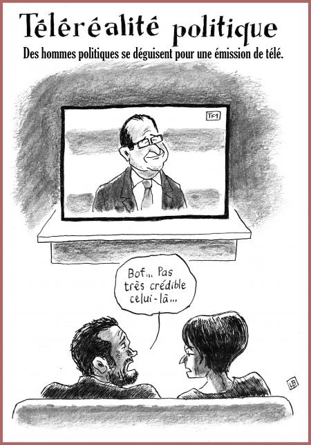 webzine,gratuit,bd,zébra,fanzine,bande-dessinée,satirique,caricature,françois hollande,téléréalité,dessin,presse,lb,editorial cartoon