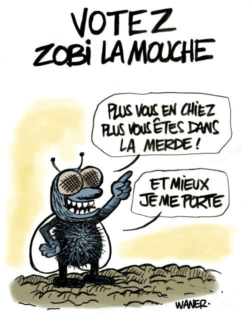webzine,bd,gratuit,zébra,fanzine,bande-dessinée,caricature,waner,présidentielle,2017,mouche,merde,dessin,presse,satirique,editorial cartoon
