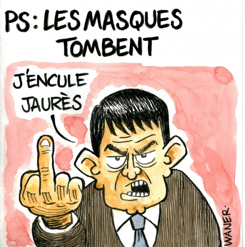 webzine,bd,zébra,gratuit,fanzine,bande-dessinée,caricature,manuel valls,jaurès,ps,dessin,presse,satirique,editorial cartoon,waner