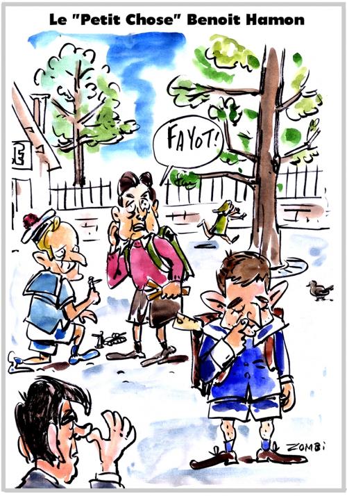webzine,bd,zébra,gratuit,fanzine,bande-dessinée,caricature,benoît hamon,présidentielle,2017,petit chose,prof,dessin,presse,satirique,editorial cartoon,zombi