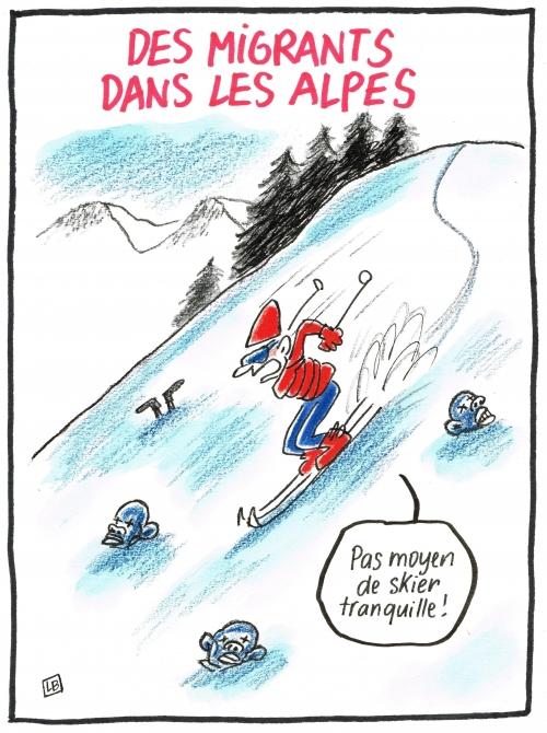 webzine,bd,zébra,fanzine,gratuit,bande-dessinée,caricature,sports d'hiver,migrant,dessin,presse,satirique,editorial cartoon,énigmatique lb,siné-mensuel