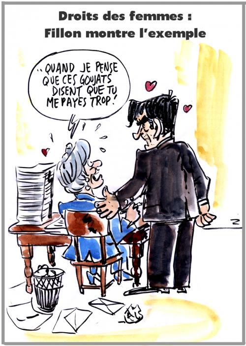 webzine,bd,zébra,gratuit,fanzine,bande-dessinée,caricature,françois fillon,pénélope,journée,femme,présidentielle,2017,dessin,presse,satirique,editorial cartoon,zombi