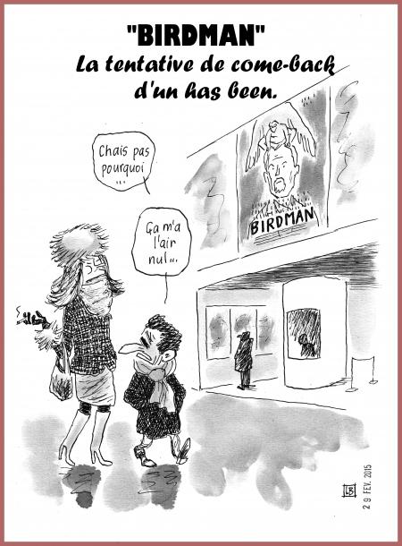 webzine,bd,gratuit,zébra,fanzine,bande-dessinée,caricature,nicolas sarkozy,has-been,carla bruni,come-back,cinéma,birdman,dessin,presse,satirique,editorial cartoon,zombi