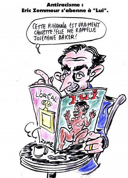 webzine,bd,gratuit,zébra,bande-dessinée,fanzine,satirique,caricature,éric zemmour,lui,rihanna,antiracisme,joséphine baker,dessin,presse,editorial cartoon,zombi