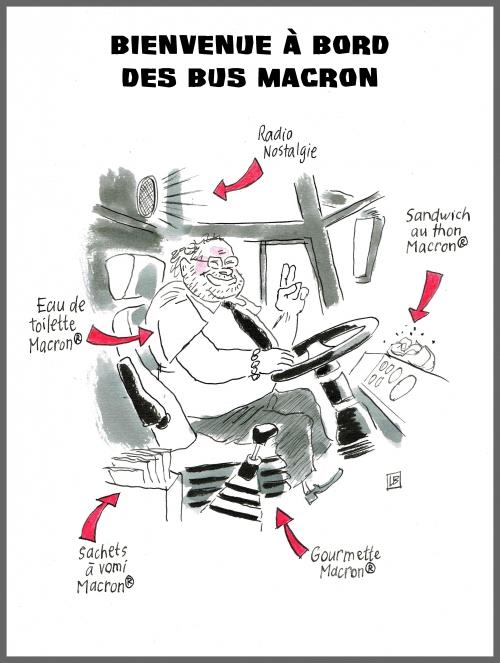 webzine,bd,gratuit,fanzine,bande-dessinée,zébra,caricature,bus,macron,dessin,presse,editorial cartoon,satirique