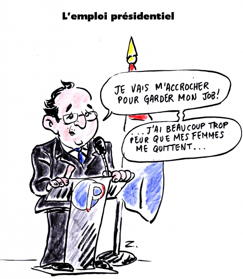 webzine,gratuit,zébra,fanzine,bd,bande-dessinée,satirique,caricature,françois hollande,dessin,presse,emploi,pole,2017,editorial cartoon,zombi