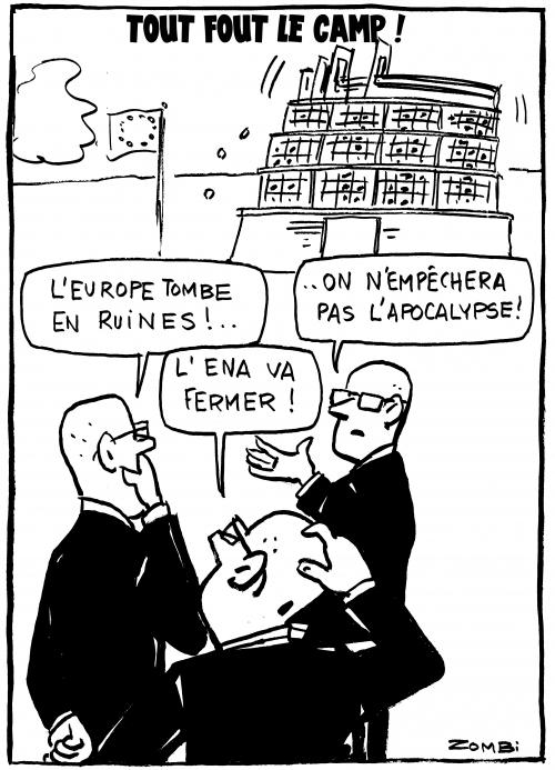 webzine,bd,zébra,gratuit,fanzine,bande-dessinée,caricature,ena,europe,parlement,fonctionnaires,apocalypse,dessin,presse,satirique,editorial cartoon,zombi