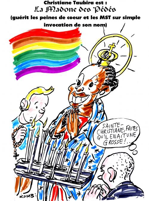 webzine,bd,gratuit,zébra,fanzine,bande-dessinée,caricature,christiane taubira,madone,dessin,presse,satirique,editorial cartoon,zombi