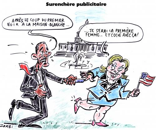 webzine,zébra,bd,gratuit,fanzine,bande-dessinée,satirique,caricature,barack obama,hillary clinton,démocrates,dessin,presse,editorial cartoon,zombi