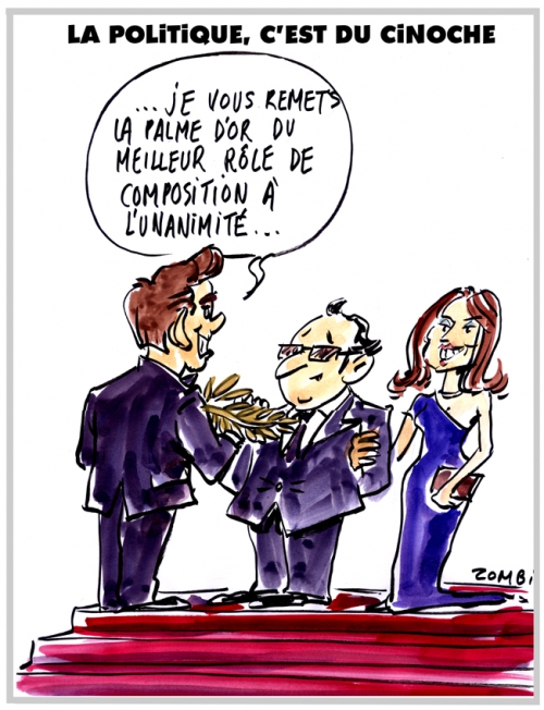 webzine,bd,zébra,gratuit,fanzine,bande-dessinée,caricature,festival,cannes,palme,or,françois hollande,julie gayet,dessin,presse,satirique,editorial cartoon,zombi